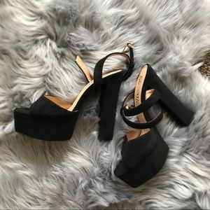 Fashion Nova Black Platform High Heel Sandals